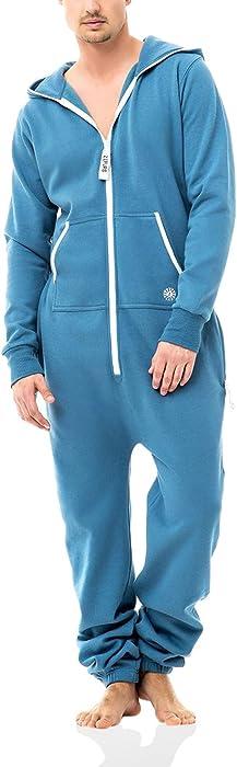 Zipups Mono-Pijama Clean Cut Azul Medio L