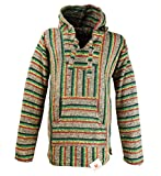 Funny Guy Mugs Premium Baja Hoodie Sweatshirt Pullover Jerga Poncho (Jamaican Night, Large)