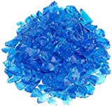 Turquoise Recycled Fire Pit Glass - Medium (18-28Mm), 5 lb. Bag