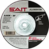 United Abrasives-SAIT 20088 Type 27 7-Inch x 1/4-Inch x 5/8-11-Inch A46N Aluminum Depressed Center Grinding Wheels, 10-Pack