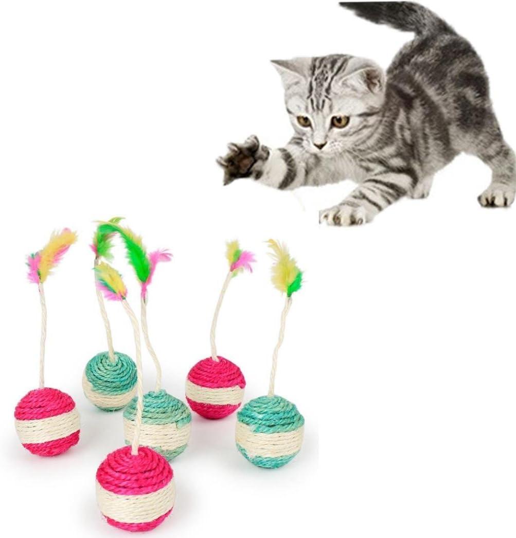 Switty Pet Cat Kitten Toy Rolling Sisal Scratching Funny Kitten Play Muñecas