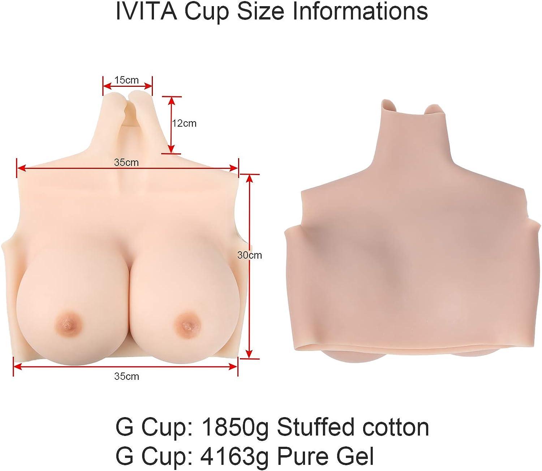 IVITA Crossdresser Brustformen Silikon Br/üste f/ür Crossdresser Mastektomie Prothese Transgender Cosplay Drag Queen