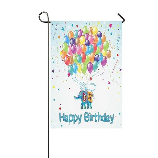 Feliz cumpleaños regalo globos elefante al aire libre ...