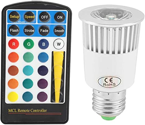 Multi Color Changing E27 5W RGB LED Light Bulb Memory Magic Lamp+Remote Control