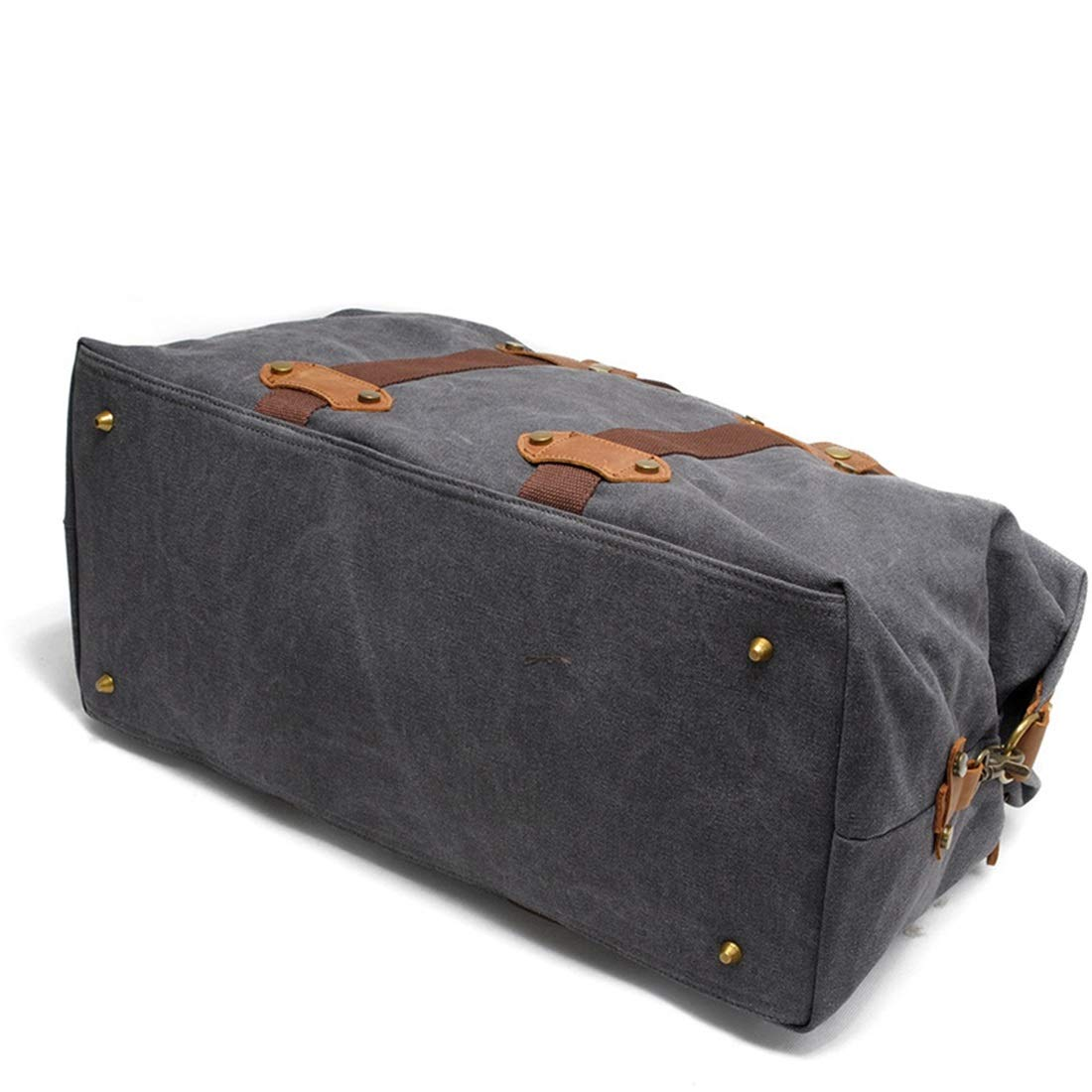 Color : Dark Gray Carriemeow Mens Travel Bags Portable Large Capacity Bags Casual Canvas Shoulder Bags