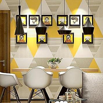 KYXXLD Papier Peint de Style Nordique la géométrie Moderne ...