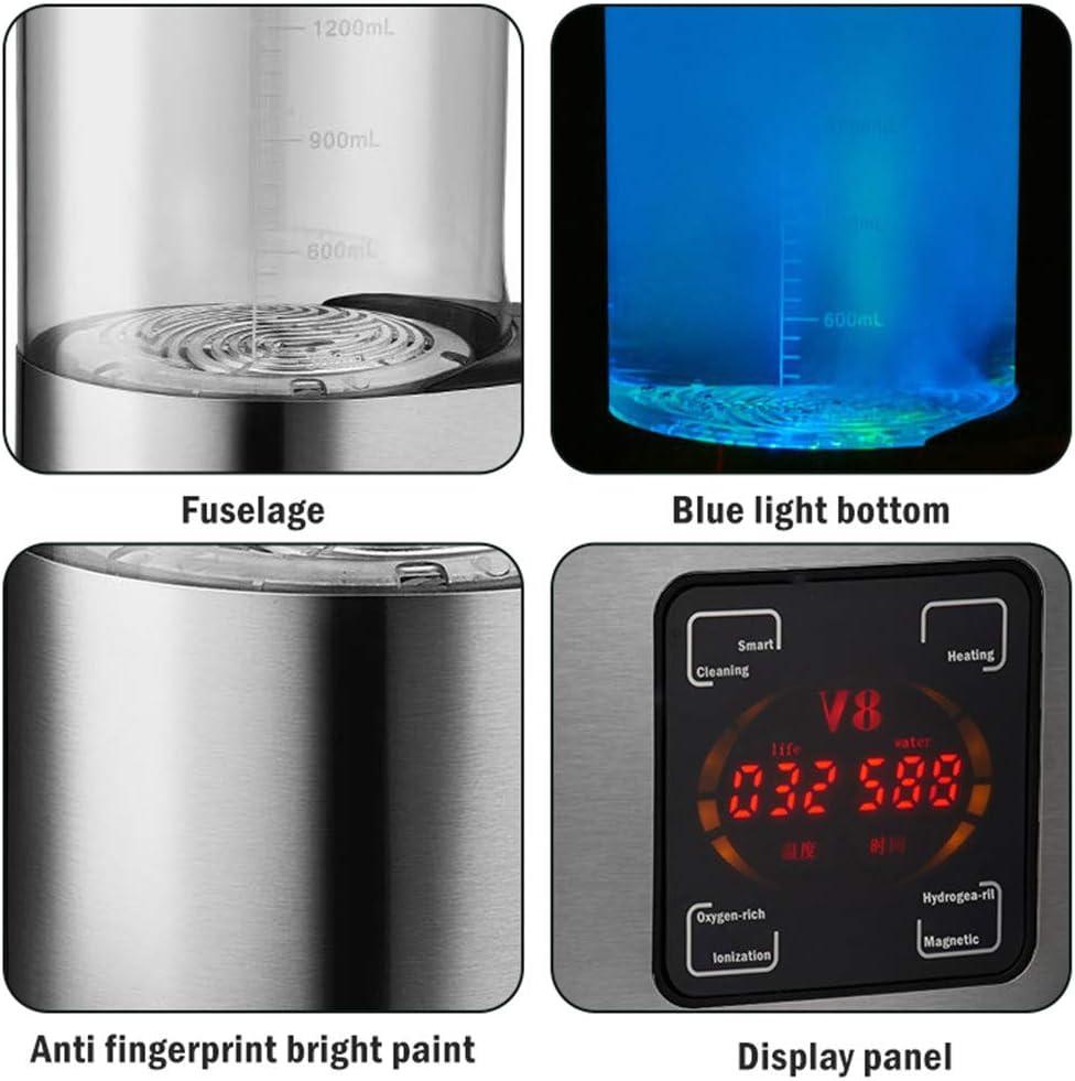 Affichage LED Tasse deau dhydrog/ène Portable G/én/érateur deau ionis/ée Rechargeable Anti-/âge antioxydant KKTECT Bouteille deau dhydrog/ène Grande capacit/é 2L Temp/érature constante Intelligente