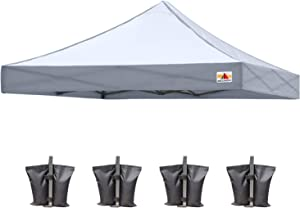 ABCCANOPY Replacement Canopy Top for Commercial Canopy Tent (10x10, Gray)