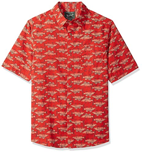 Woolrich Men's Walnut Springs Printed Modern Fit Shirt, Cactus red, Large ()