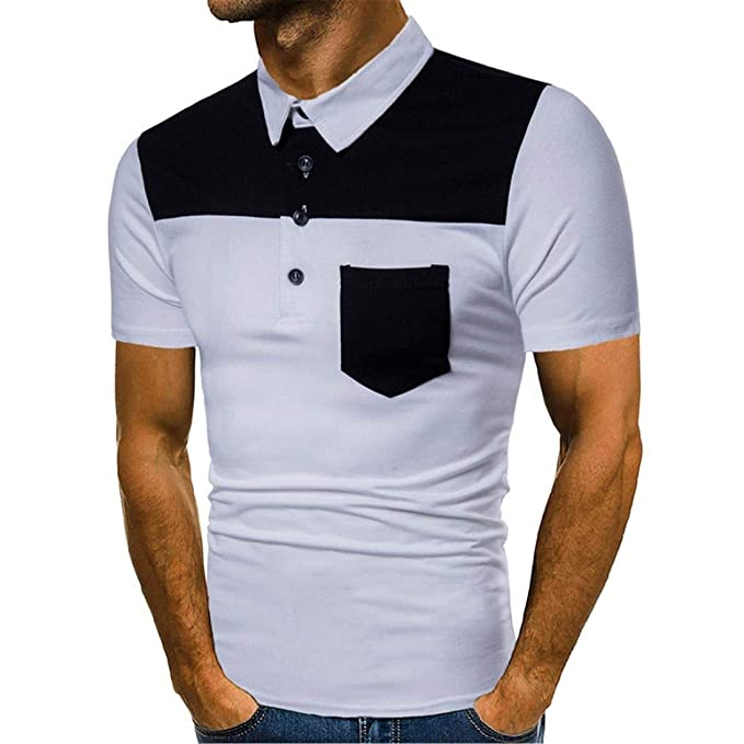 Moda Hombres Polo Hombres Summer Fit Impreso Camiseta Men Slim De ...