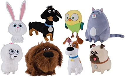Amazon Com Secret Life Of Pets 8 Piece Plush Set Measures 5 To 8 Inches Tall By Secret Life Of Pets Toys Games