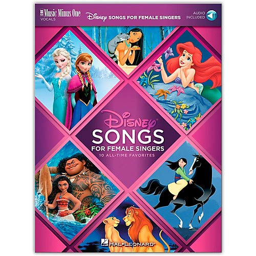 Disney Songs for Female Singers 10 All-Time Favorites with Fully-Orchestrated Backing Tracks Book/Audio Online Pack of 2