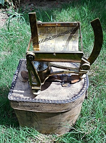 Gilbert & Sons Antique Style Solid Brass Sundial Compass. C-3217 by Marine Art Handicrafts