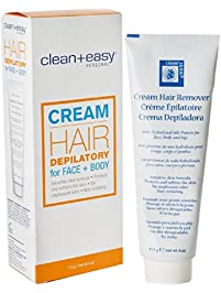 Clean + Easy Personal Care Products, Hair Depilatory for Face and Body, 4 oz