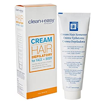 Clean Plus Easy Hair Depilatory for Face & Body, 4 Ounce