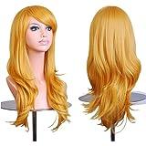Falamka peluca larga onda para mujeres fiesta pelucas coloridas