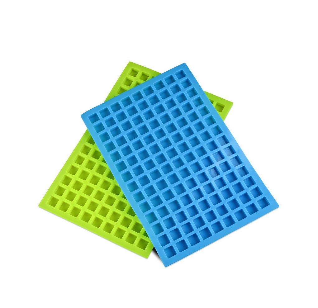 Silicone Molds for Making Homemade Chocolate Candy Gummy Jelly Joinor Set of 2pcs 126-Cavity Ice Cube Tray