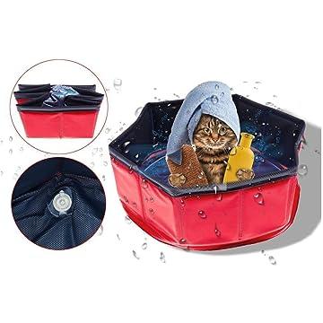 lantusi Portable Durable Dog Cat Bath Pool Outdoor Indoor Pet Supplies Bath Conditioners