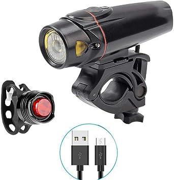 Juego De Luces De Bicicleta, USB Recargable, LED Potente De 350 ...