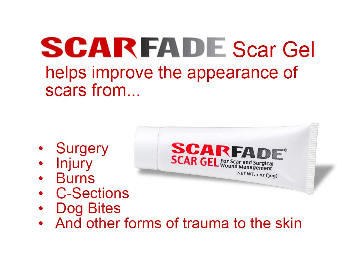 Scarfade silicone scar gel for scar removal, scar therapy - 30g Tube by ScarFade
