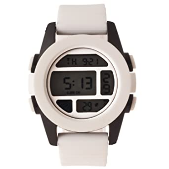 Amazon.com: Geneva Platinum Mens Rubber Strap Digital Watch ...
