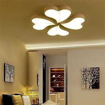 Wandun Lámpara de techo simple arte moderno de hierro cálido ...
