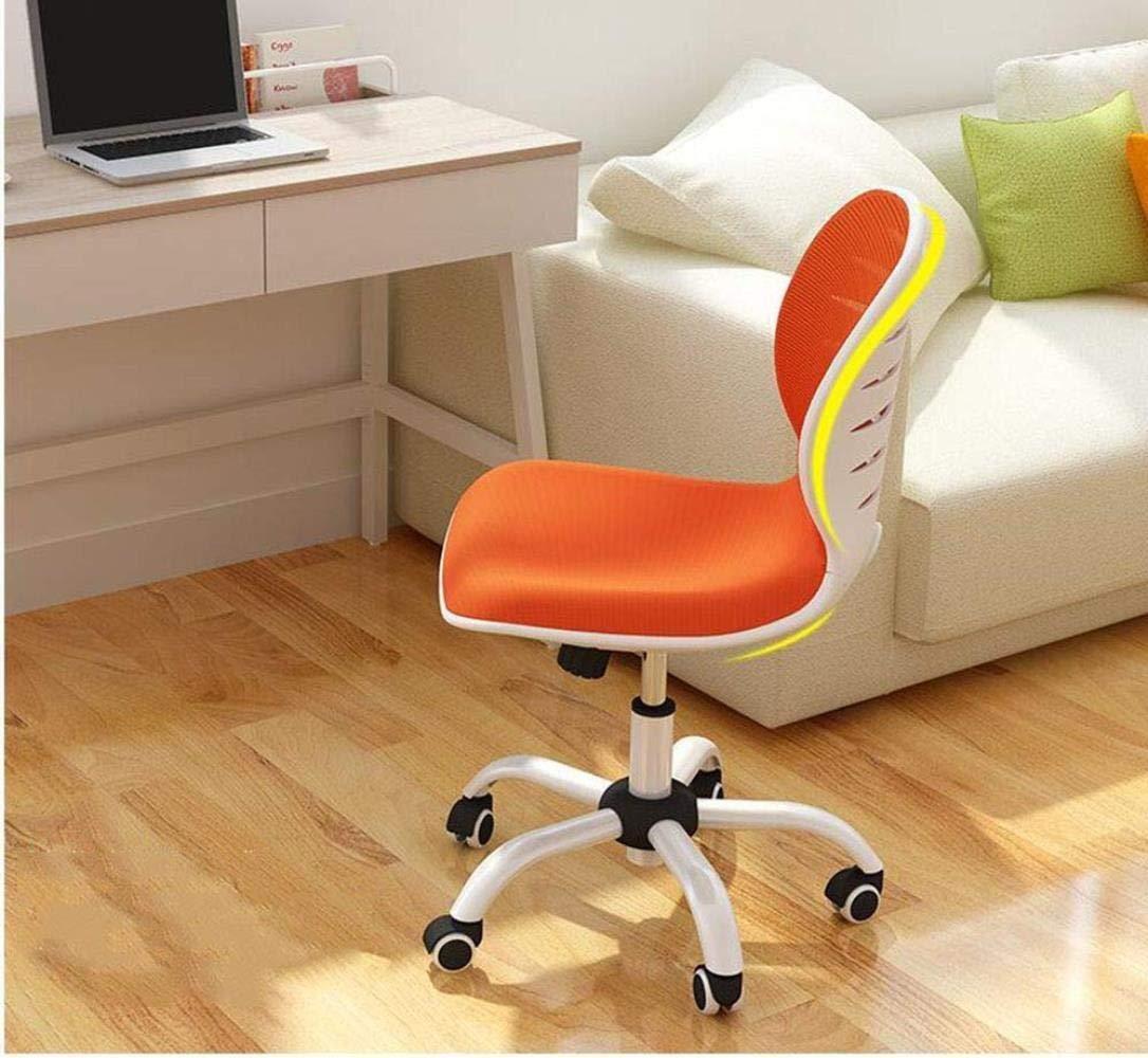 Barstolar THBEIBEI kontorsstol spelstol uppgift skrivbordsstol datorstol datorstol, hemmakontor stol lärande stol inget armstöd lyft svängbar stol (färg: Blå) Orange