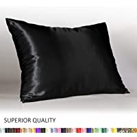 Shop Bedding Luxury Satin Pillowcase for Hair – Satin Pillowcase with Zipper – Blissford