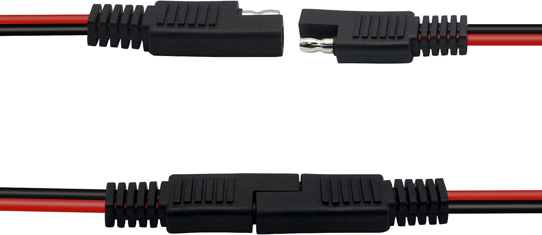 30 Cm 14 Awg Sae Anschlusskabel Sae 2 Pin Einzelstecker Elektronik