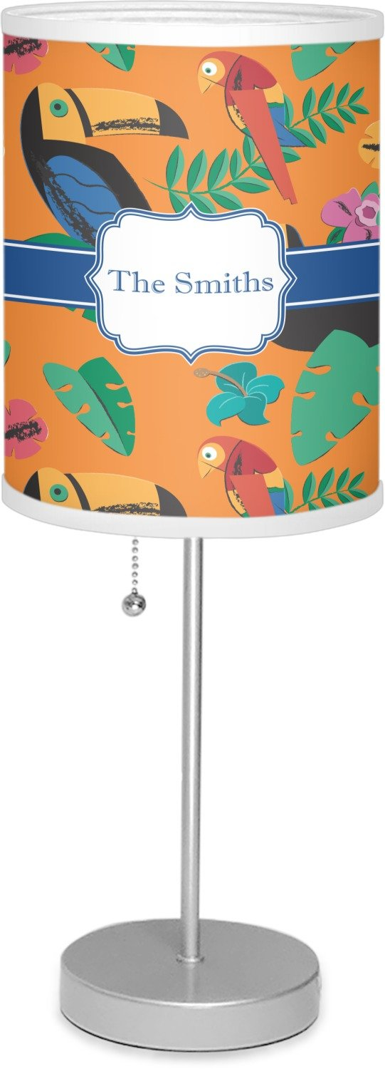 RNK Shops Toucans 7'' Drum Lamp with Shade Polyester (Personalized)