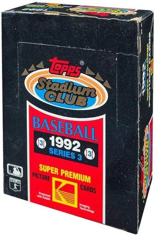 1992 Topps Stadium Club Baseball Series 3 Hobby Box