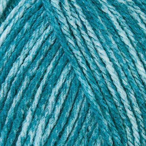 (Mary Maxim Starlette Yarn - Teal Heather - 100% Ultra Soft Premium Acrylic Yarn for Knitting and Crocheting - 4 Medium Worsted Weight)
