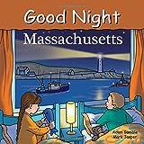 Good Night Massachusetts highlights the Gloucester fishing port, historic Salem, Boston Harbor, Old Sturbridge Village, the Boston Light, Boston Common, Fenway Park, Harvard University, Haymarket Square, the Mayflower II tall ship, and Plymouth Plant...