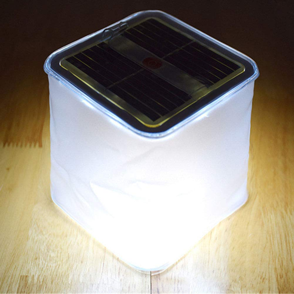 Moligh doll Led Solar Power Inflatable Tent Camping Light Outdoor Emergency Lamp