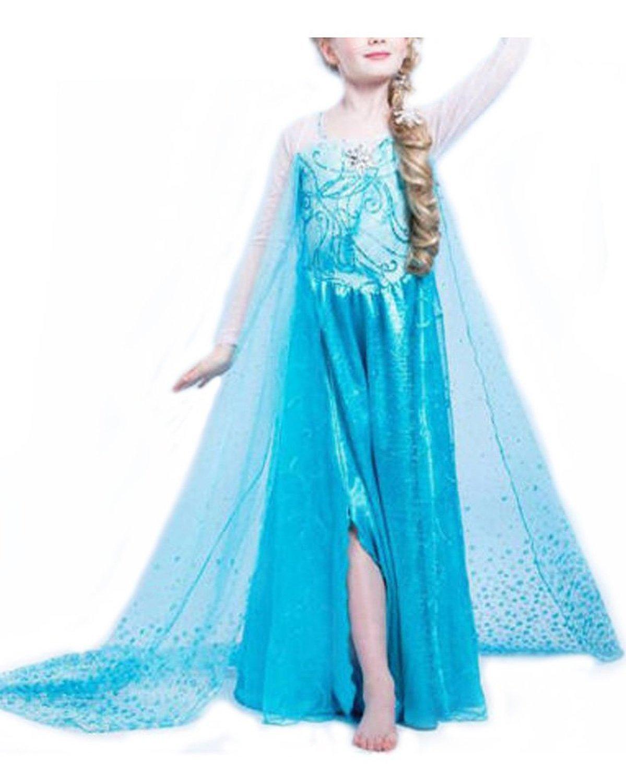 Nice Sport - Disfraz de la princesa Elsa de Frozen, disfraz para niña: Amazon.es: Juguetes y juegos