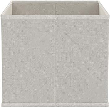 Zeller 14411 - Caja de almacenaje de tela, plegable, 33 x 26 x 22 cm, color beige: Amazon.es: Hogar