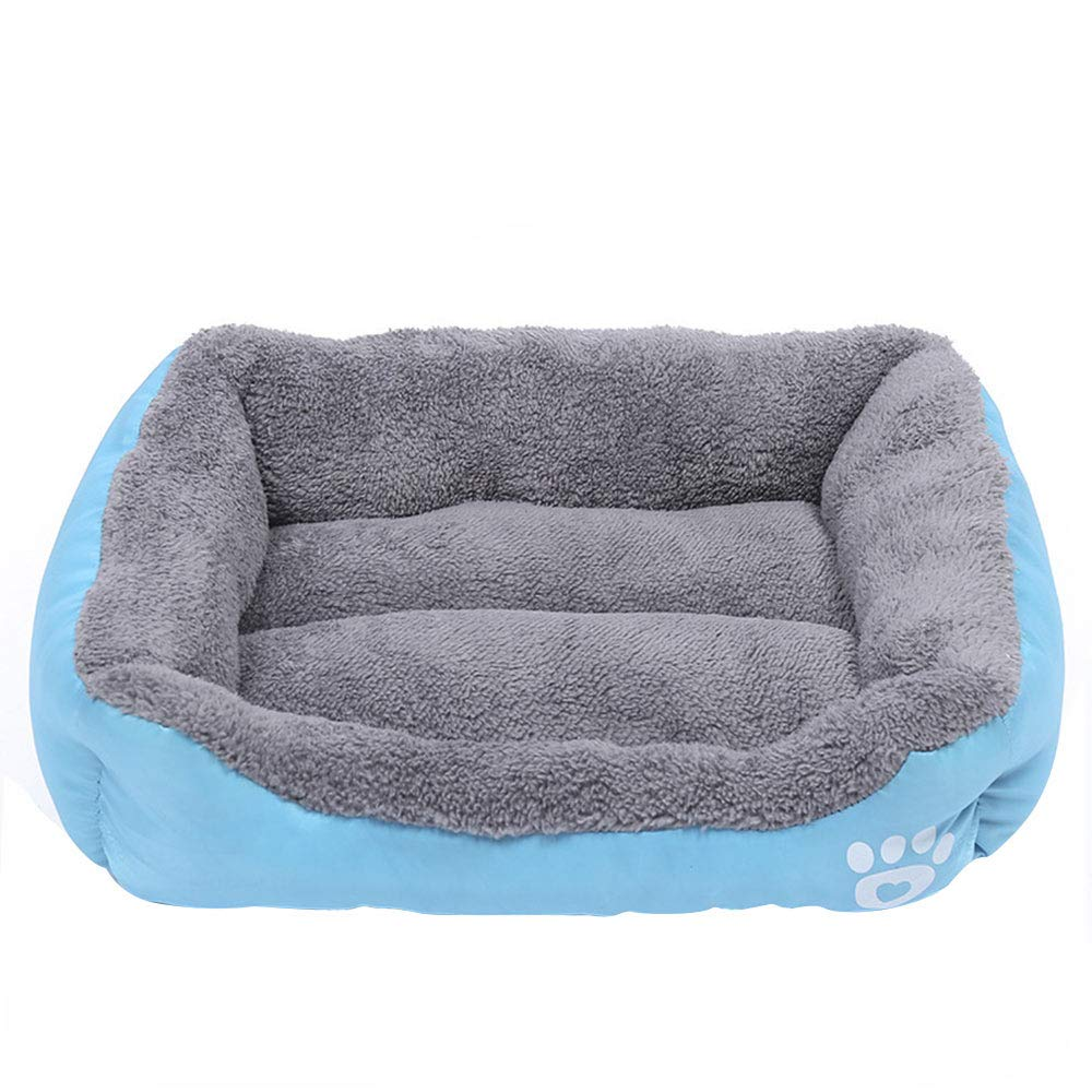 Candy color Square Pet Dog Bed Warm Dog House Soft Material Nest Winter Warm Kennel Cat Puppy