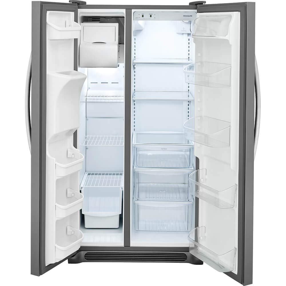ft in Stainless Steel Capacity Frigidaire FFSS2315TS 33 Inch Side by Side Refrigerator with 22.1 cu