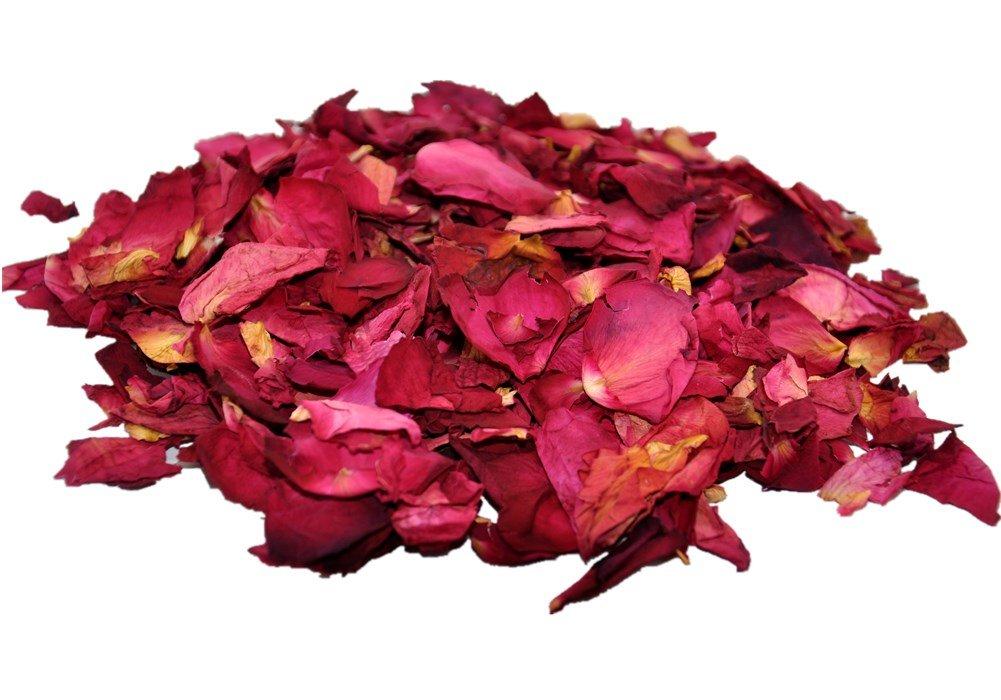 Sonline 1 sacchetto di secchi petali di rosa fiori naturali Tabella di cerimonia nuziale Arrcrose01