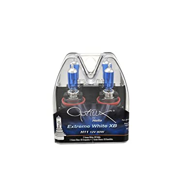 Optilux Hella H71071032 XB Series H11 Xenon White Halogen Bulbs, 12V, 80W, 2 Pack: Automotive