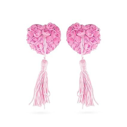 XOXO Lujo Nippel Pasties, en forma de corazón elegante pezones Bedeck Extremo Pegatinas con rosas