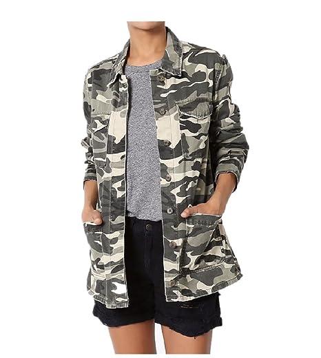f4ffafa5d7408 Camouflage Military Washed Cotton Twill Anorak Styling Utility Jacket