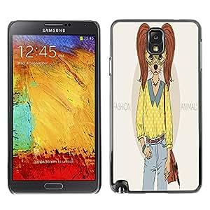Jordan Colourful Shop - FOR Samsung Note 3 N9000 - ?love should not be compared - Personalizado negro cubierta de la caja de pl??stico