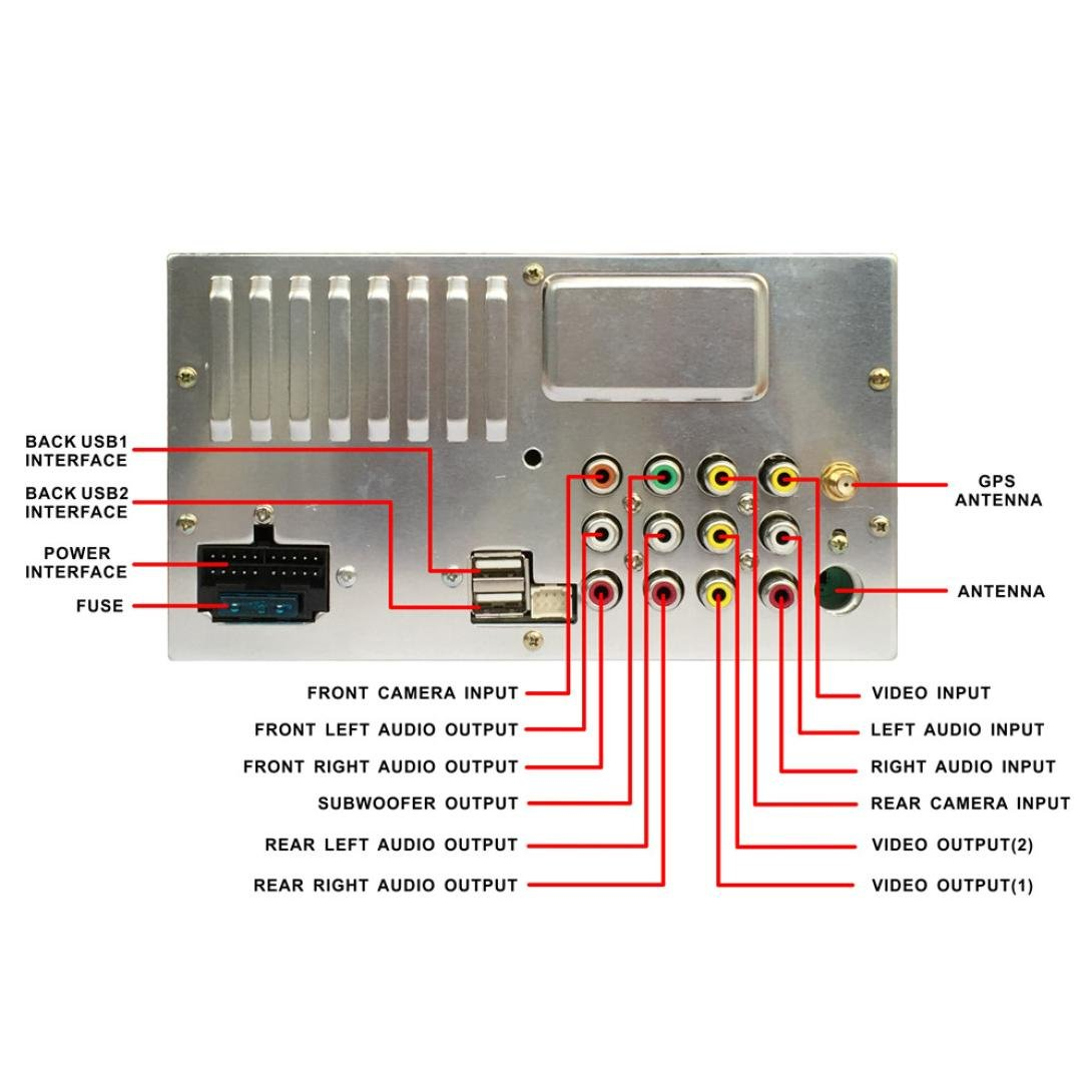 Zyooh Car Gps Player 7 2din Stereo Android Mp5 Porsche 1973 1914 Fuse Box Diagram Bluetooth Touch Radio Am Fm Rds Usb Sd Aux Electronics