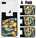 MSD Phone Card holder, sleeve/wallet for iPhone Samsung Android and all smartphones with removable microfiber screen cleaner Silicone card Caddy(4 Pack) IMAGE ID 28698540 Ripe fresh honey pineapples o