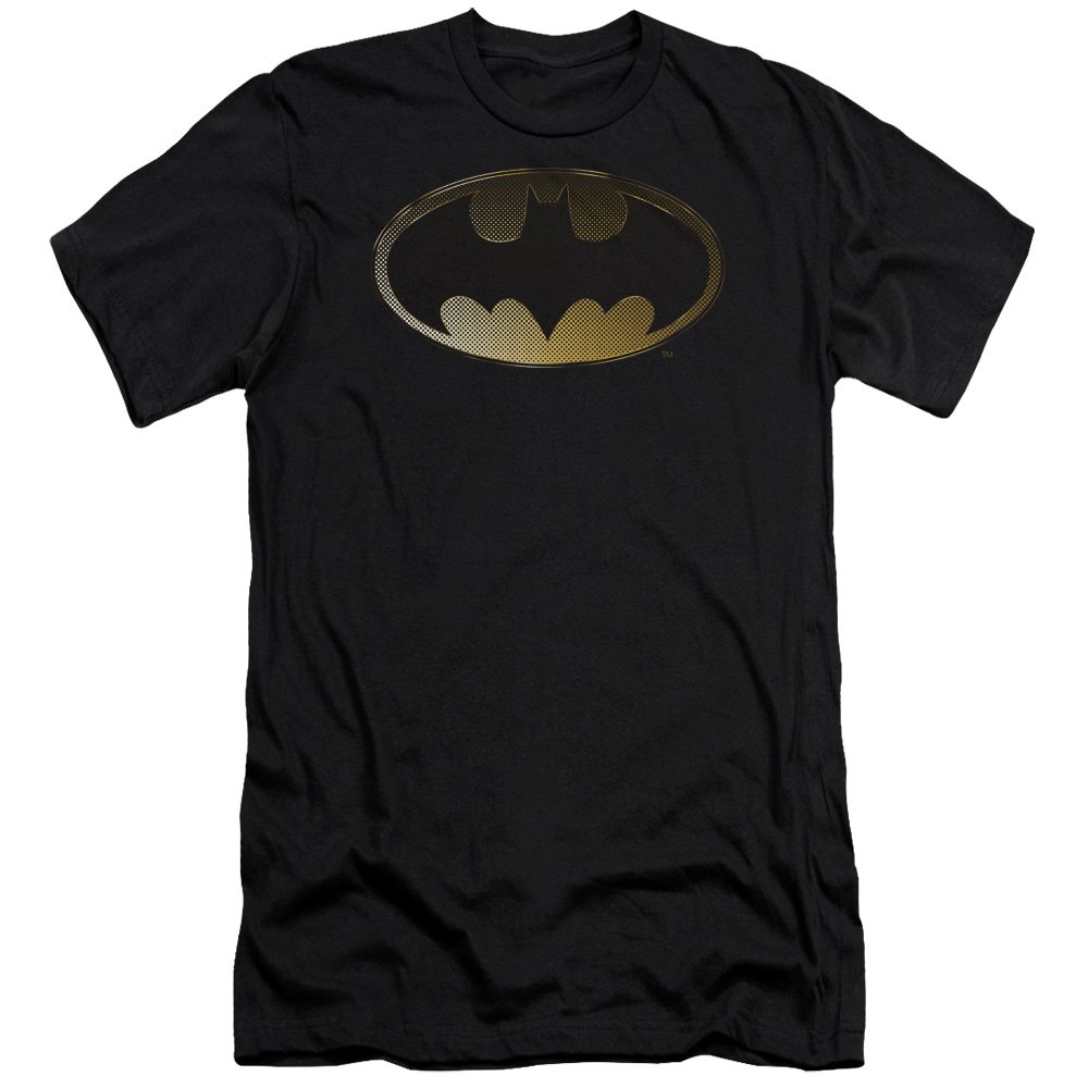 Batman Halftone Bat Premium Adult Slim Fit T-Shirt