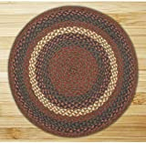 Earth Rugs 15-040 Round Area Rug, 4′, Burgundy/Gray For Sale