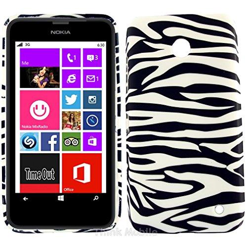 Negro Cebra Tpu Gel Funda Case Para El Nokia Lumia 630 multicolor