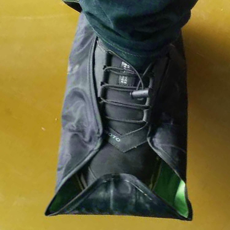 Entrez dans la chaussette mains libres couvre-chaussures ré utilisables couvre-bottes de chaussure ré utilisables de couverture de chaussure automatique durable pour un usage domestique, vert FairytaleMM