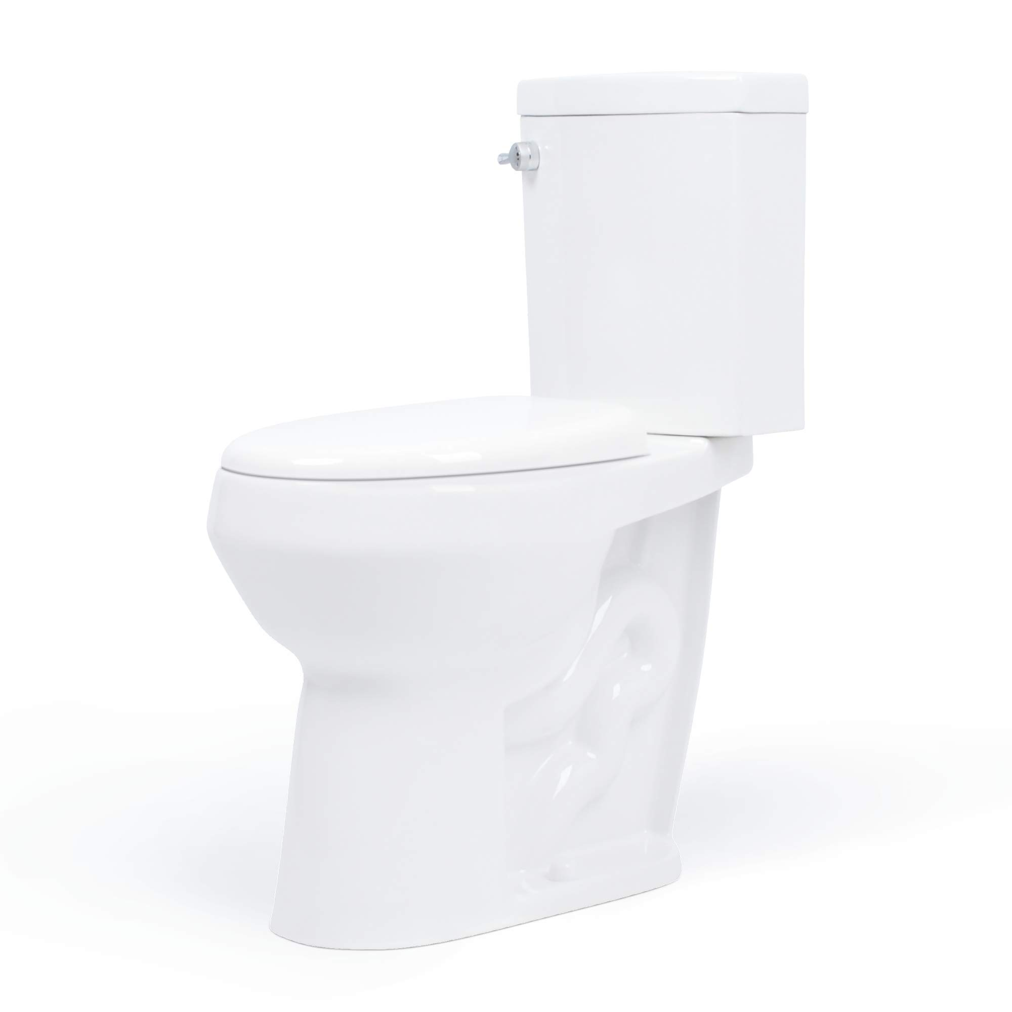 20 inch Extra Tall Toilet. Convenient Height bowl taller than ADA Comfort Height. Dual flush, Slow-close seat, New handle by Convenient Height